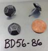 "BD56 - Geometrically Shaped, Pewter Nail/Clavos Head - Head Size: 5/8"" Nail Length: 5/8"" - 50/box"