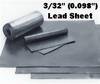 """(6#) Sheet Lead 3/32"""" 1' x 3'"""