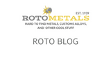 Announcing Rotometal's New Metal Blog