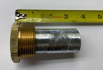 """E-8Z Engine Zinc Anode 1-1/4"""" NPT x 2-1/4"""""""