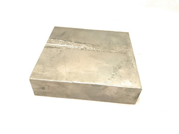 "Zamak ZA 8 4""x 4"" x 1"" Prototype Machining Block (Aluminum 8%-9%, Copper 1%, Zinc 90%-91%)"