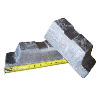 Cut in Half LEAD Pig Ingot 57-62 Pounds-99.9% with Freight Included