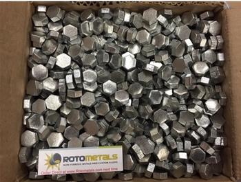 2200 Pounds Zinc Hexagonal Pieces  SHG 99.995% Pure