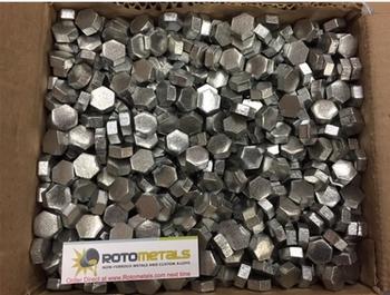 2200 Pounds Zinc Hexagonal Pieces  SHG 99.995% Pure