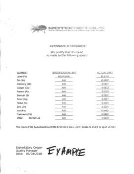 "Lead Plate - 0.157"" x 4' x 4' - Discount Sheet"