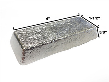 Alloy R97 Pewter Casting Ingot 97.5% Bismuth , 2.5% Silver - 466F - 566F