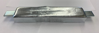 Custom 2.8 pound Zinc anode with a flush mount bar
