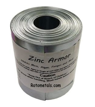"ZincArmor  2.5 "" Zinc Strip 50 ft Prevent Algae, Moss, Fungus & Mildew"