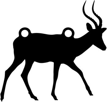 """High Caliber AR500 3/8"""" Thick Animal Silhouette Targets - for Precision Practice Waterbuck Wildebeast Impala(Antelope #1, 14x15)"""