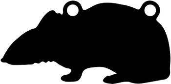 """High Caliber AR500 3/8"""" Thick Animal Silhouette Targets - for Precision Practice Vermin Mice Rodent (Rat #1, 6x11)"""