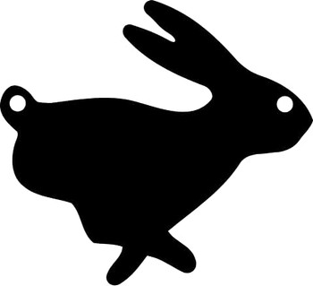 """High Caliber AR500 3/8"""" Thick Animal Silhouette Targets - for Precision Practice Rabbit Bunny Cottontail(Rabbit #1, 14x15)"""