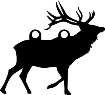 "High Caliber AR500 3/8"" Thick Animal Silhouette Targets - for Precision Practice Deer Elk Moose Doe(Elk #1, 14x15)"