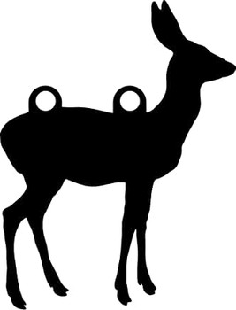 "High Caliber AR500 3/8"" Thick Animal Silhouette Targets - for Precision Practice Deer Elk Moose Doe(Doe #1, 12x16)"