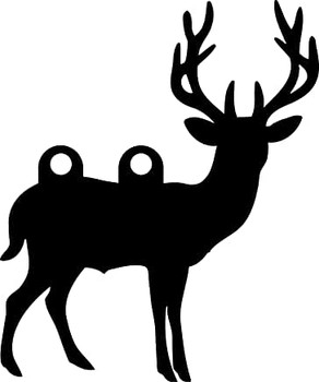 "High Caliber AR500 3/8"" Thick Animal Silhouette Targets - for Precision Practice Deer Elk Moose Doe(Deer #1, 14x17)"