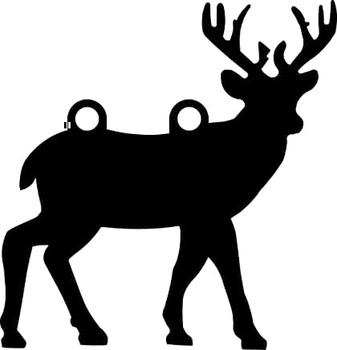 "High Caliber AR500 3/8"" Thick Animal Silhouette Targets - for Precision Practice Deer Elk Moose Doe(Deer #2, 20x21)"