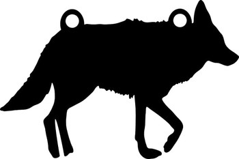"High Caliber AR500 3/8"" Thick Animal Silhouette Targets - for Precision Practice Coyote Wolf Hound(Coyote #1, 16x24)"