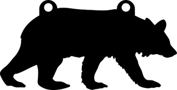"""High Caliber AR500 3/8"""" Thick Animal Silhouette Targets - for Precision Practice Grizzly, Black, Brown Bear(Bear #1, 10x20)"""