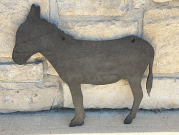 """High Caliber AR500 3/8"""" Thick Animal Silhouette Targets - for Precision Practice DONKEY 18""""x20"""""""