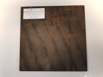 """Alro Hot Rolled Steel Plate 1/4"""" x 12"""" x 12"""" - Made in USA"""