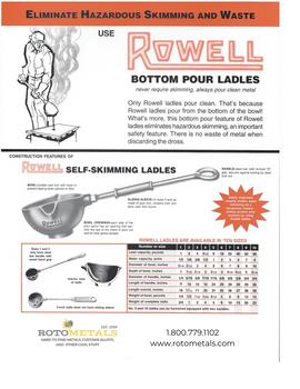 "Casting Ladle Bottom-pour Rowell #3 - 3"" Bowl Diameter, 14"" Handle Length"