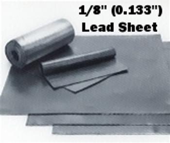 """(8#) Sheet Lead 1/8"""" 4' x 8'"""