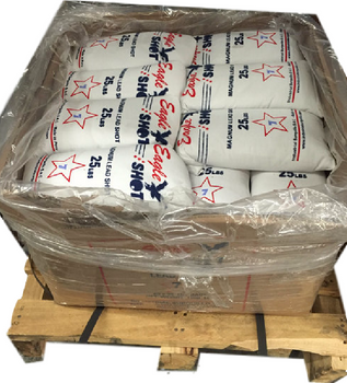 80 Bags (2000 lbs)  Magnum Lead Shot  - Pick a Size