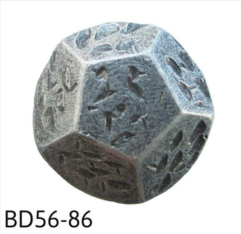 "BD56 - Geometrically Shaped, Pewter Nail/Clavos Head - Head Size: 5/8"" Nail Length: 5/8"" - 50/box"