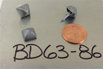 "BD63 - Square Pyramid Nail/Clavos Head - Head Size: 3/8"" Nail Length: 1/2"" - 80/box"