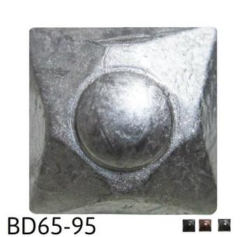 "BD65 - Square Nail/Clavos Head with Circular Detail - Head Size: 13/16"" Nail Length: 5/8"" - 80/box"