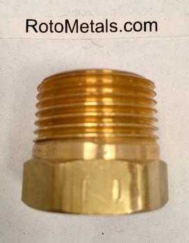 "PP-750-B ZRN-7-B 3/4"" NPT Brass Plug"
