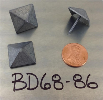 "BD68 - Pewter Pyramid Nail/Clavos Head - Head Size: 3/4"" Nail Length: 5/8"" - 80/box"