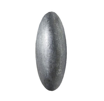 "BD75 - Pewter Oblong Nail/Clavos Head  - Head Size: 1.2"" Nail Length: 5/8"""