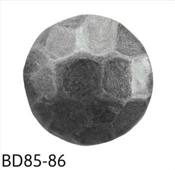 """BD85-86 - Hammered Pewter Circular Nail/Clavos Head - Head Size: 7/16"""" Nail Length: 1/2"""" - 500/box"""