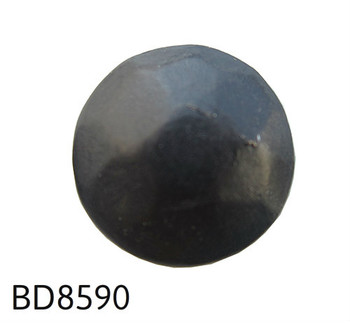 "BD85-90 Black Hammered Pewter Circular Nail/Clavos Head - Head Size: 7/16"" Nail Length: 1/2"" - 100/box"