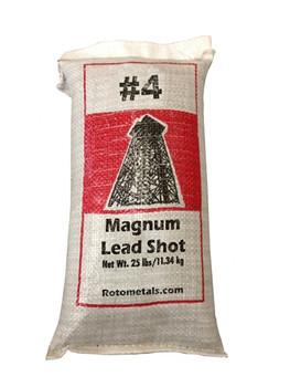 "Magnum Lead Shot #4 .13"" bag/25 lbs."