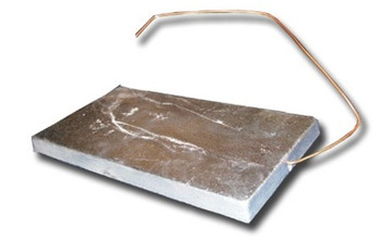 "Zinc Anode - 3"" x 6"" Hang Overboard w/ Copper Wire"