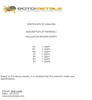 Gallium Indium Eutectic - 10 grams
