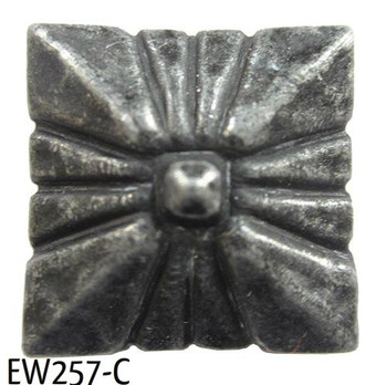 "EW257 - Square Nail/Clavos Head with Circular Detail  - Head Size: 3/4"" Nail Length: 3/4"" -40/box"