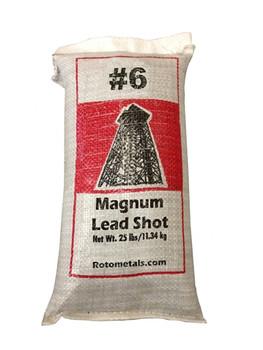 "Magnum Lead Shot #6 .11"" bag/25 lbs."