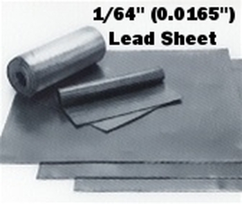 """(1#) Sheet Lead 1/64"""" 3' x 4'"""