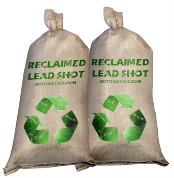Reclaimed Lead Shot - (2-25) Bags 50 Pounds  - Washed and Graphited