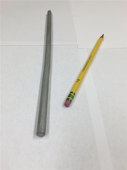 "Zinc Extruded Rod - Price is per Foot 3/8"" Diameter from Straight Rod"