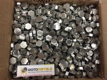 Zinc Hexagonal Pieces 99.995% 1 Pound