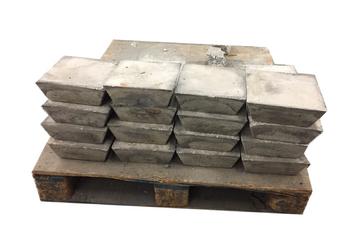 Pallet Antimony Ingots 99.65% SB 1000 Pounds
