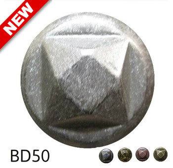 "BD50 - Round Nail with Square Detail - Head Size: 13/16"" Nail Length: 5/8"" - 80 per box"