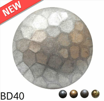 "BD40 - Medium Dome Nail with Textured Detail - Head Size: 1.6"" Nail Length: 7/8"" - 25 per box"