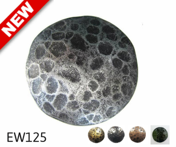 "EW125 - Circular Nail/Clavos Head Carved Texture Detail  - Head Size: 2.32"" Nail Length: 7/8"" - 8 to box"
