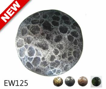 "EW125 - Circular Nail/Clavos Head Carved Texture Detail  - Head Size: 2.32"" Nail Length: 7/8"" - 8 to box"