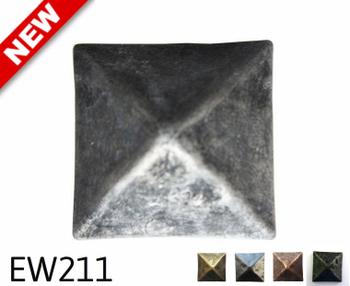 "EW211- Square Pyramid Nail/Clavos Head - Head Size: 1.16"" Nail Length: 3/4 - 18/box"