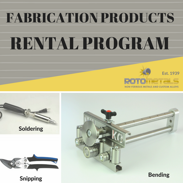 Rotometals Zinc Fabricating Rental Kit
